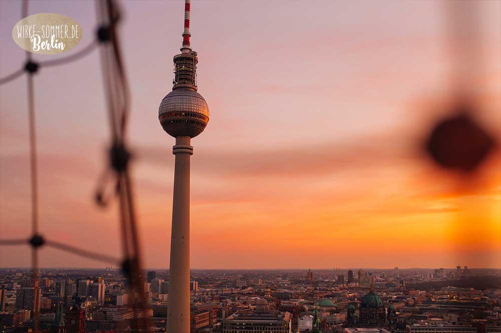 Berlin Funkturm Sonnenuntergang