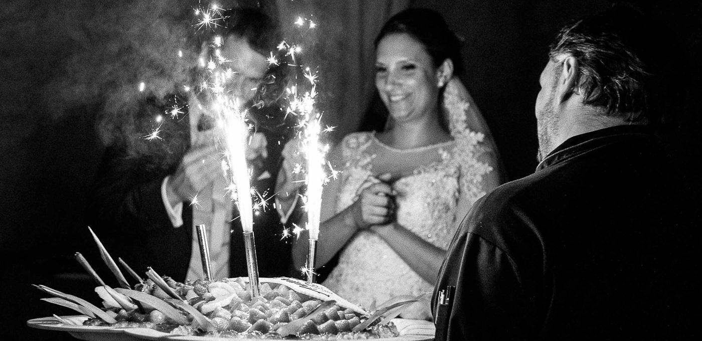 Hochzeitstorte Feuerwerk