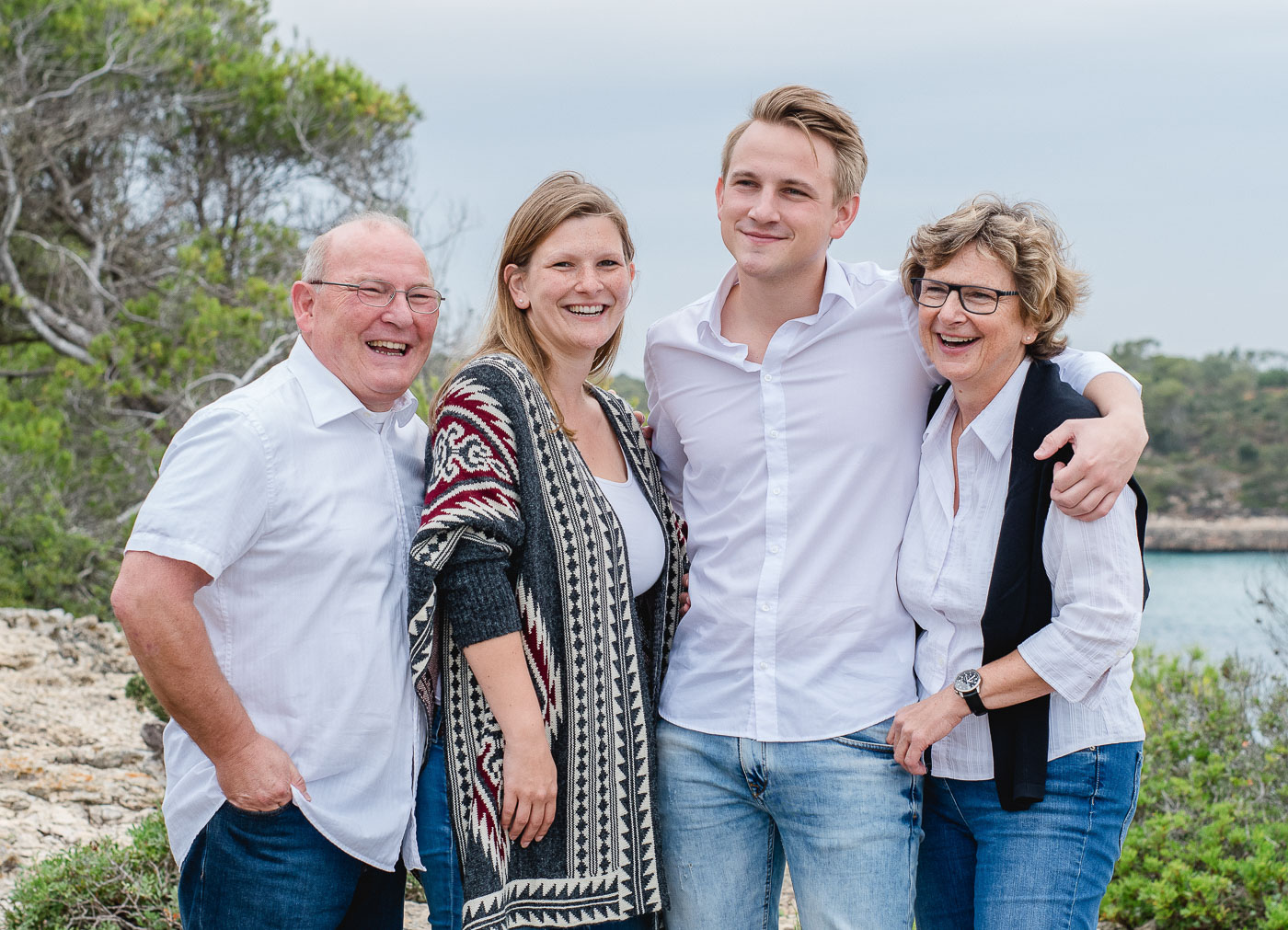 Familienfotos am Meer
